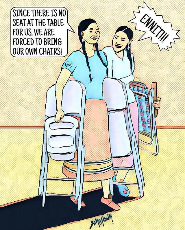 Sátien.  Artwork by: @bunkhaus  #indigenousrising