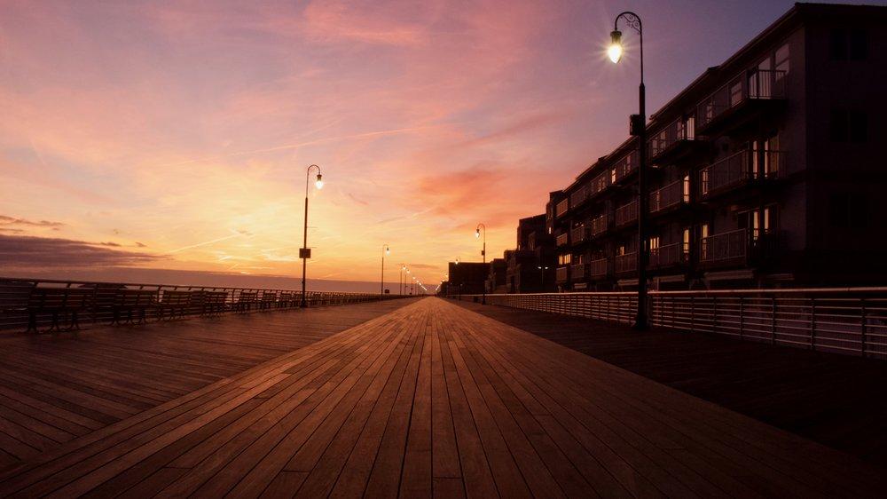 Long Beach Boardwalk Sunset