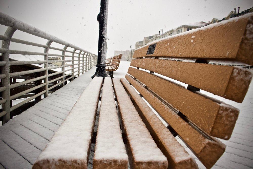 LB Snowy Benches (Long Beach)