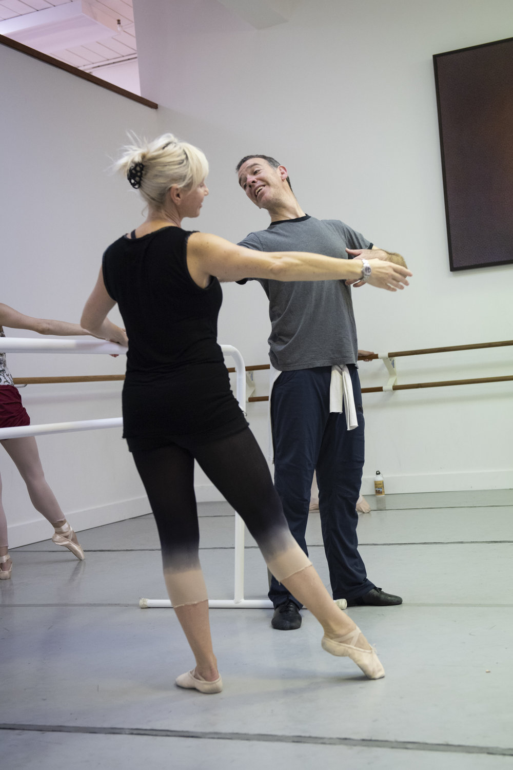 BBT Adult Open Division teacher Robert Greer  leads class at BBT, photo by Natalia Perez