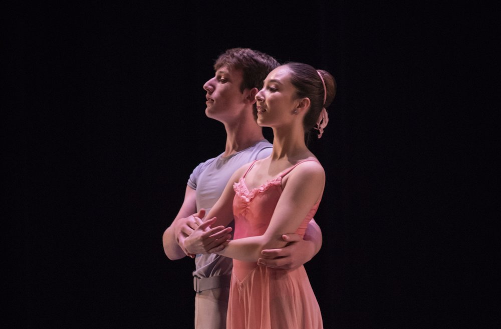 BBT Youth Company dancers  in Sally Streets'  Chopin for Two