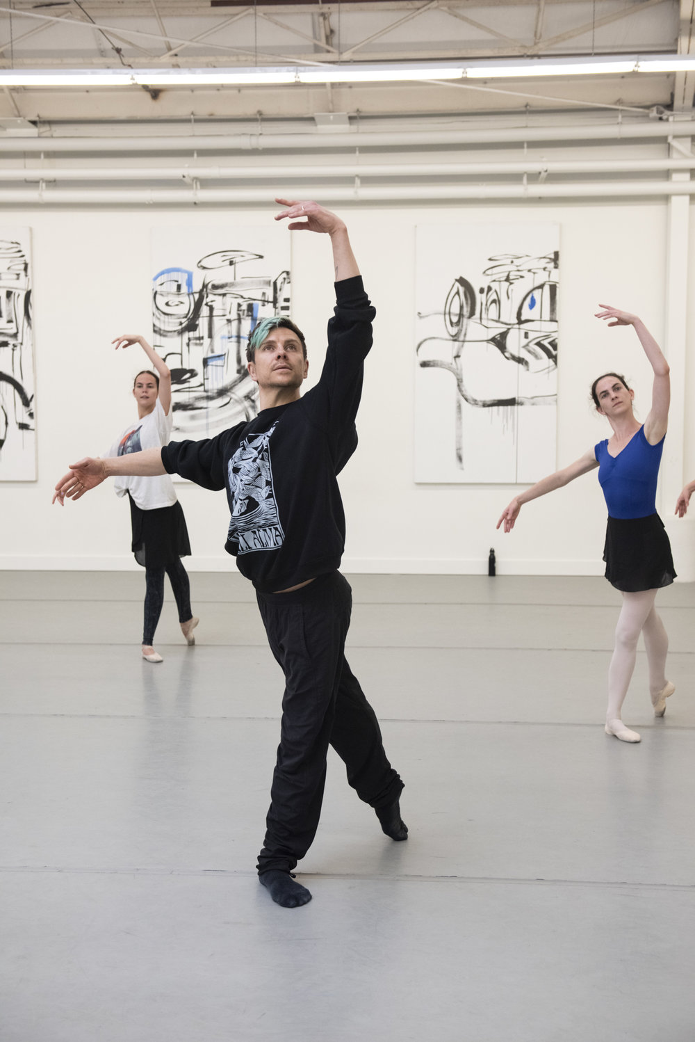 BBT Artistic Director Robert Dekkers  leading an Adult Open Division workshop ,  photo by Natalia Perez