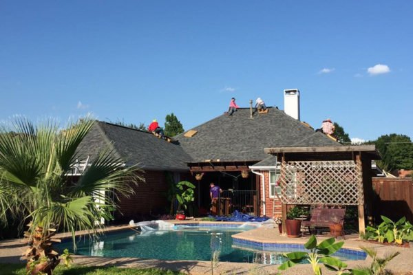 Luxury Shingle Roof Repair Job in Fort Worth Texas