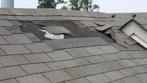 Missing Shingles   Missing shingles have many causes, and can turn into many issues like leaks, and further structural damage. Missing shingles should be replaced immediately.