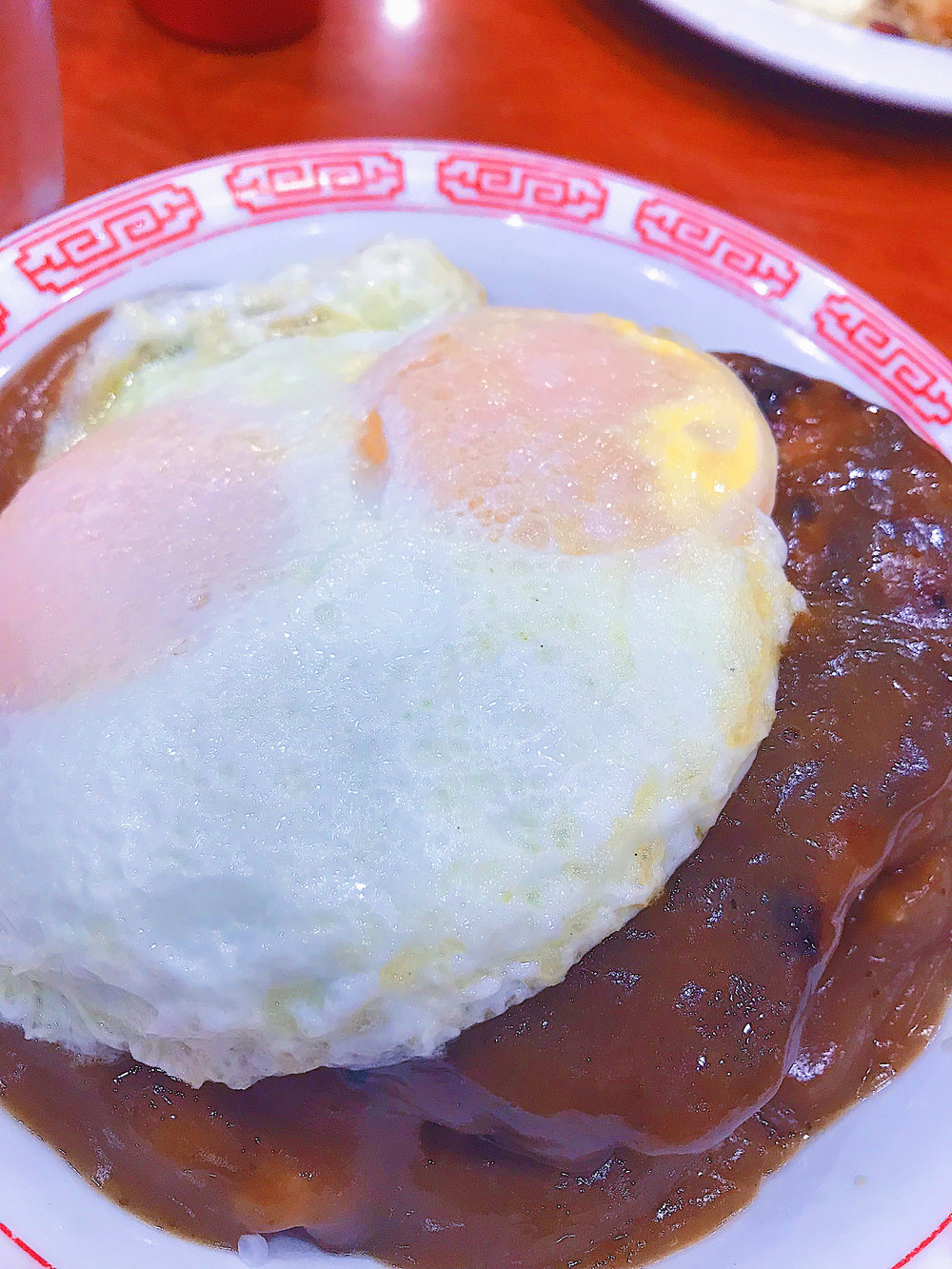 Zippy's. Loco Moco: A scoop of rice, hamburger steak, and fried egg all smothered in brown gravy.