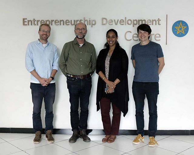 Thank you Hanna Felleke for meeting us at the Entrepeneurship Development Centre in Addis Ababa. We had a fruitful conversation on scaling Ethiopian entrepreneurs.  #BuildingResilience #BMBF #TUHH #IFRC #Ethiopia #EntrepreneurshipDevelopmentCentre #localinnovation #drought #entrepreneurship