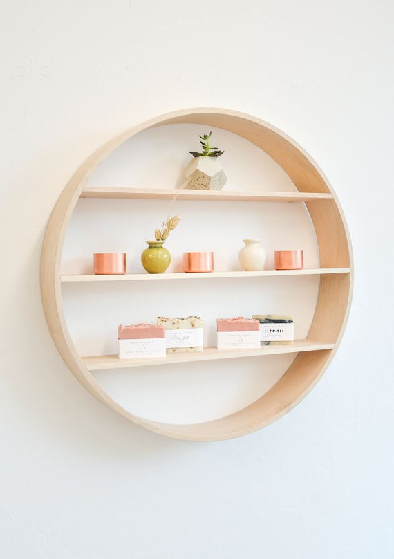 Round Statement Wall Shelf, Little Deer Interiors