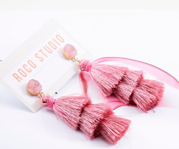 Tassel Earrings, Roco Studio