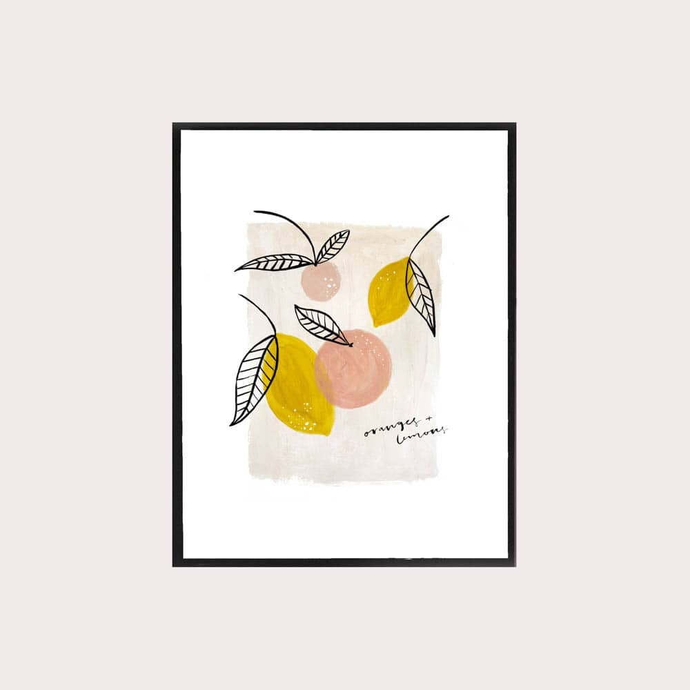 Oranges & Lemons Print, The Lovely Drawer