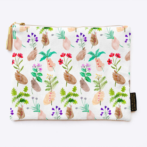 Everyday Clutch Purse: Handpicked Herbs Print, Togetherness Design