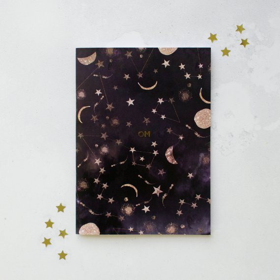 Metallic OM constellations Notebook, Nikki Strange