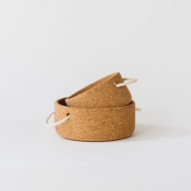 Cork Bowl with Rope Handles, Melanie Abrantes