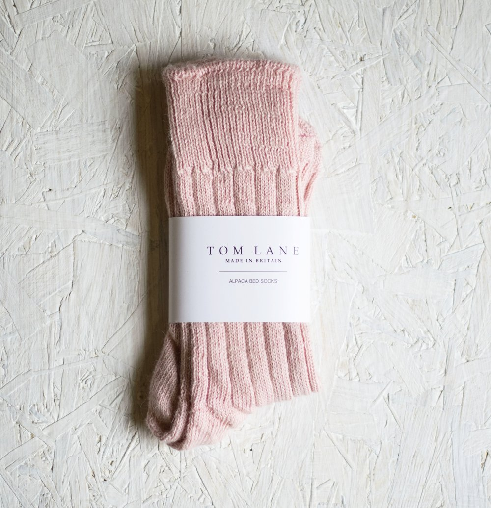Pink Alpaca Bed Socks, Tom Lane