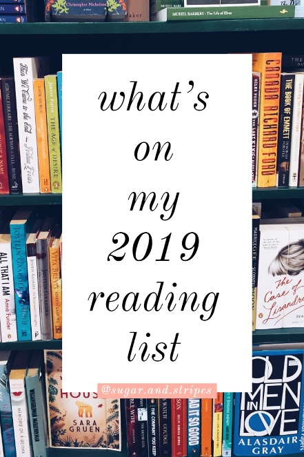what's on my 2019 reading list!