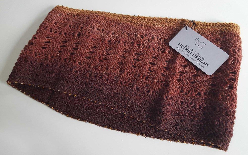 Handknit cowl by Laura Nelkin
