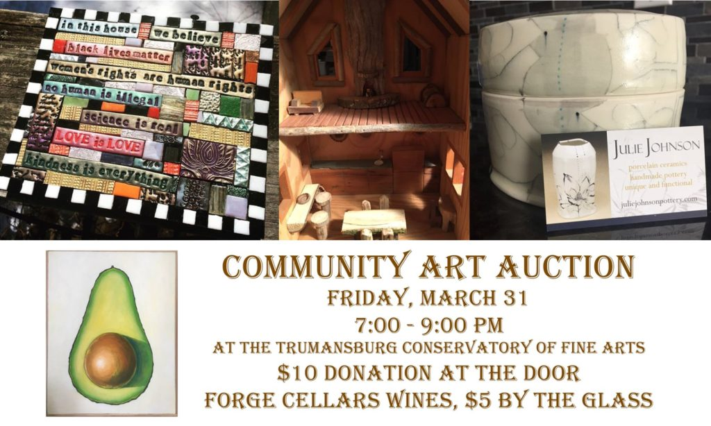 Community Art Auction Collage