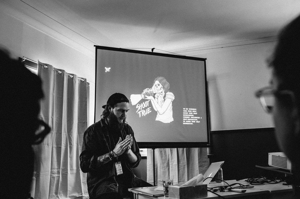 Ben at Camp Common Folk 2018.  Photo By Tahnee Jade .