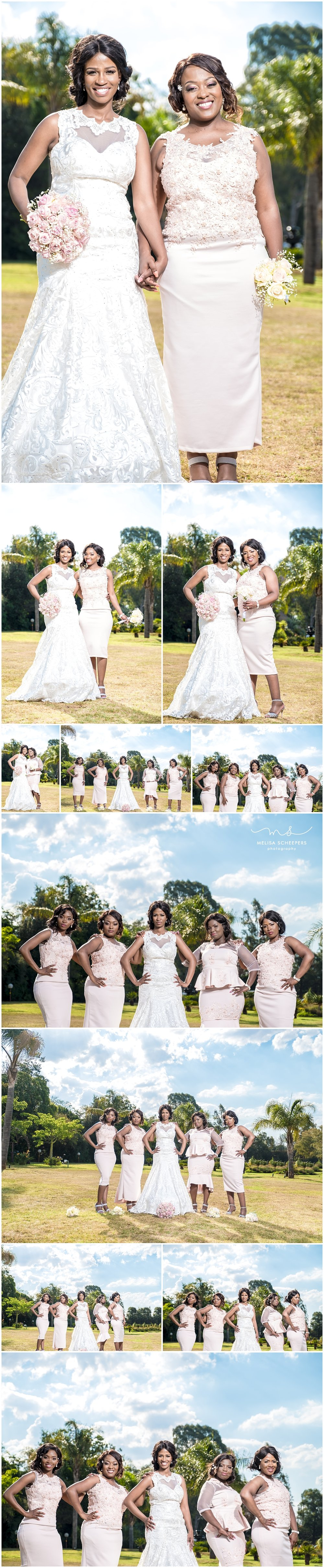Dikeledi and her bridesmaids…STUNNING