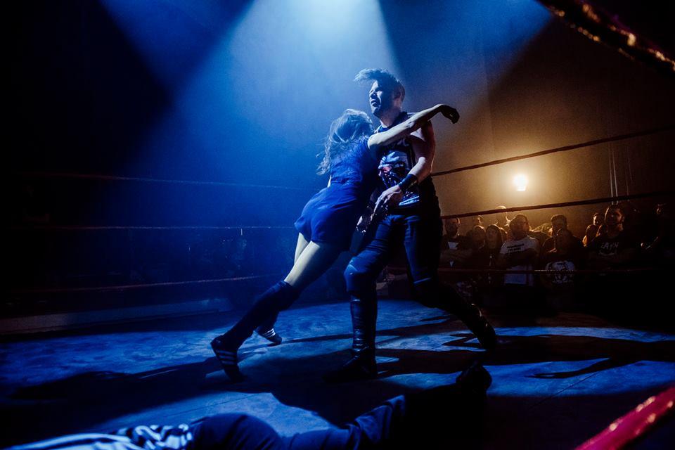 Jinny hits Jimmy Havoc with the Acid Rainmaker  (photo: The Head Drop)
