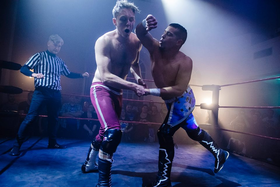 The Dazzler goes toe-to-toe with his student, Spike Trivet at The Storm 2017  (photo: The Head Drop)