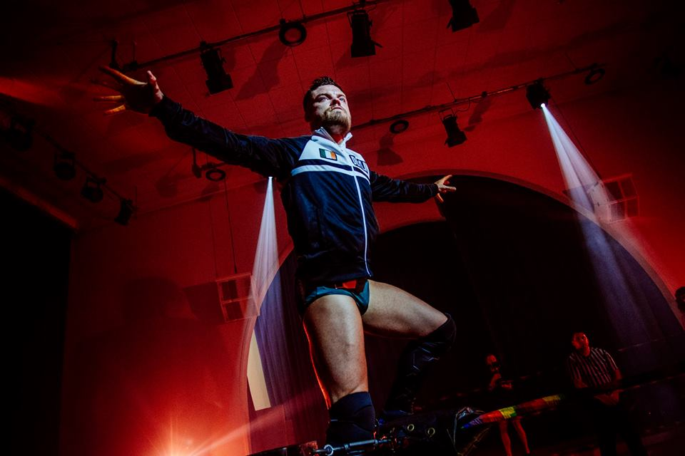 Jordan Devlin prepares for battle with Chuck Mambo at the Brighton Championship Tournament  (photo: The Head Drop)