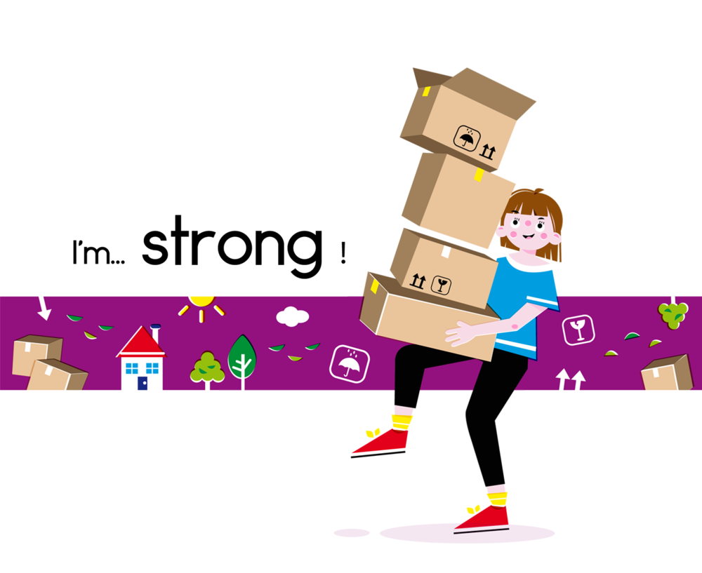 Strong - Vector Illustration © Emeline Barrea, All rights reserved