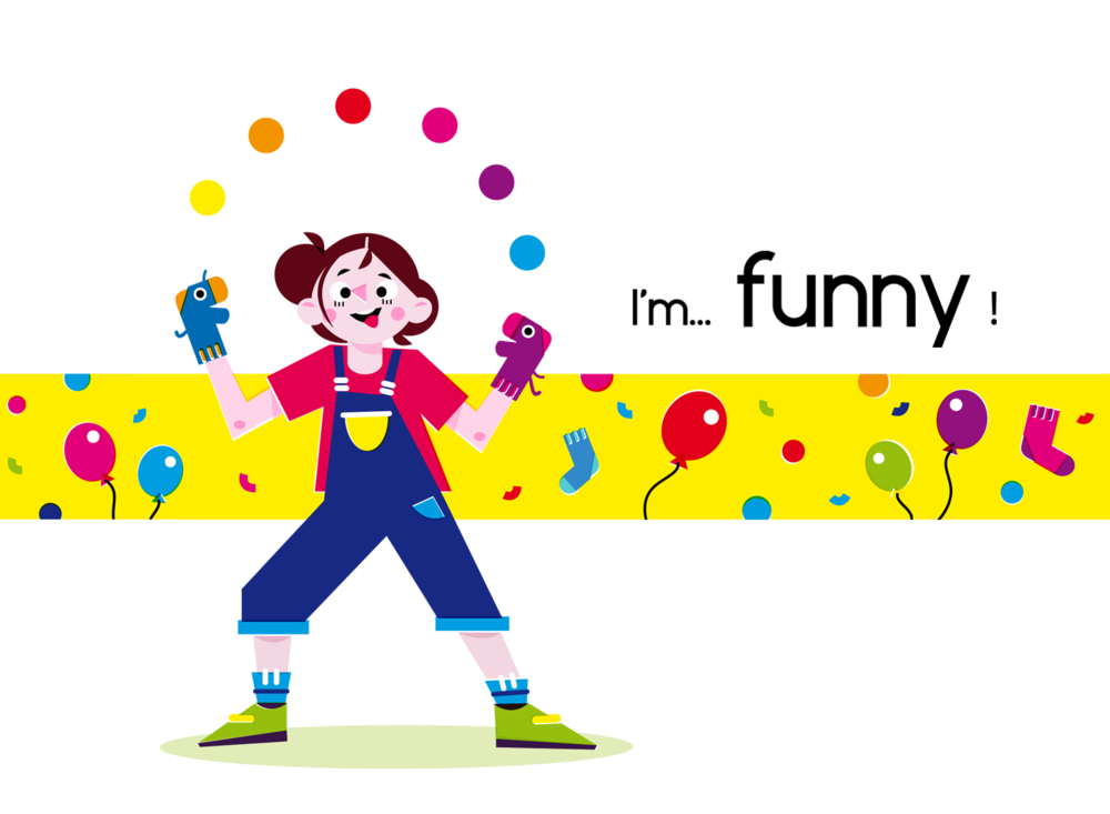 Funny - Vector Illustration © Emeline Barrea, All rights reserved