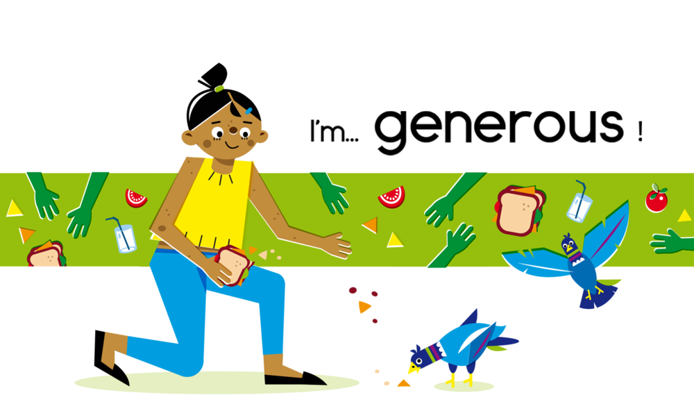 Generous - Vector Illustration © Emeline Barrea, All rights reserved