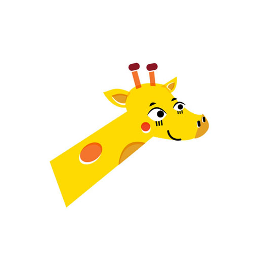 Giraffe - Vector Illustration © Emeline Barrea, All rights reserved