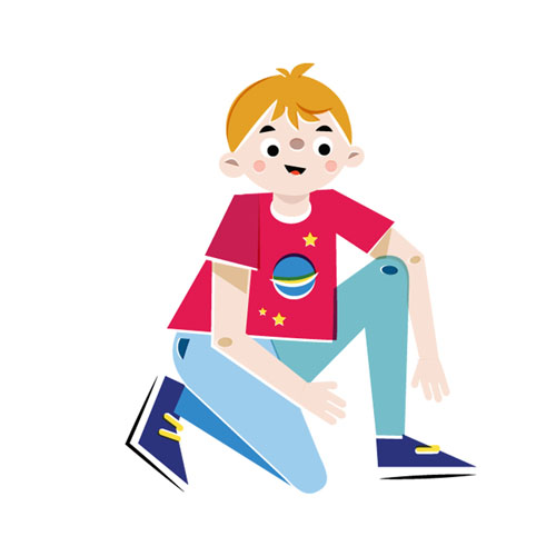 Boy - Vector Illustration © Emeline Barrea, All rights reserved