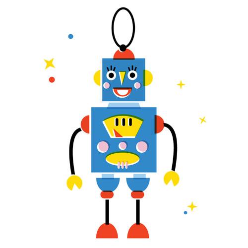 Robot ornament - Vector Illustration © Emeline Barrea, All rights reserved