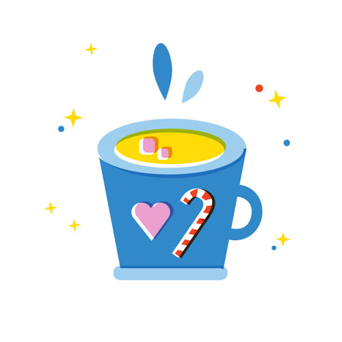 Hot chocolate - Vector Illustration © Emeline Barrea, All rights reserved