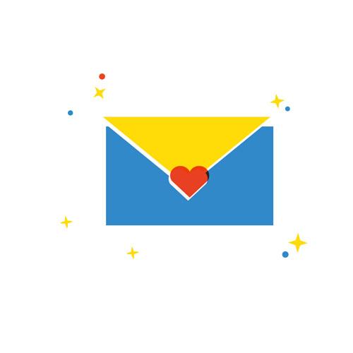 Love Letter - Vector Illustration © Emeline Barrea, All rights reserved