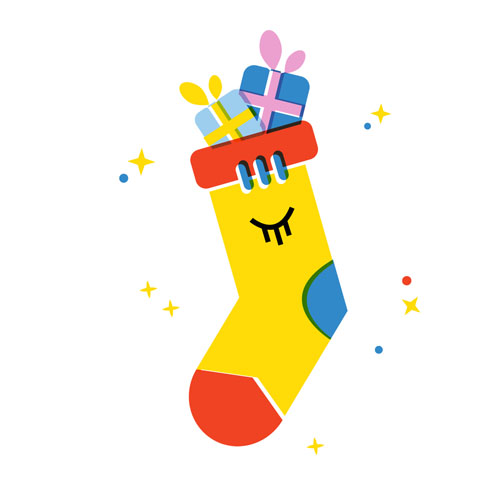 Christmas Stocking - Vector Illustration © Emeline Barrea, All rights reserved