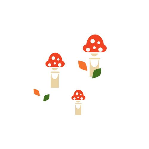 Mushrooms - Vector Illustration © Emeline Barrea, All rights reserved
