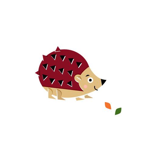 Hedgehog - Vector Illustration © Emeline Barrea, All rights reserved