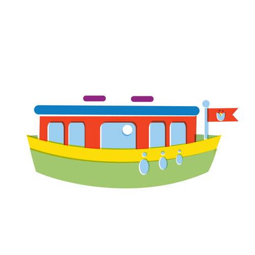 Boat - Vector Illustration © Emeline Barrea, All rights reserved