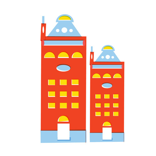 Buildings - Vector Illustration © Emeline Barrea, All rights reserved