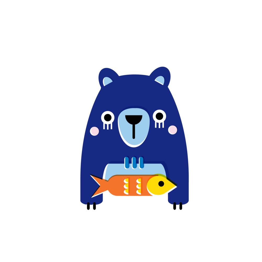 Bear - Vector Illustration © Emeline Barrea, All rights reserved