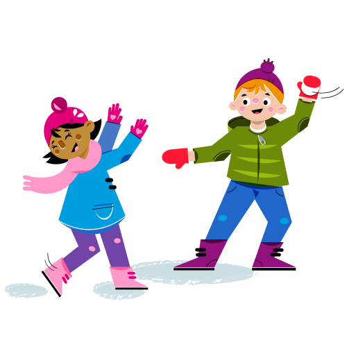 Snowball fight - Vector Illustration © Emeline Barrea, All rights reserved