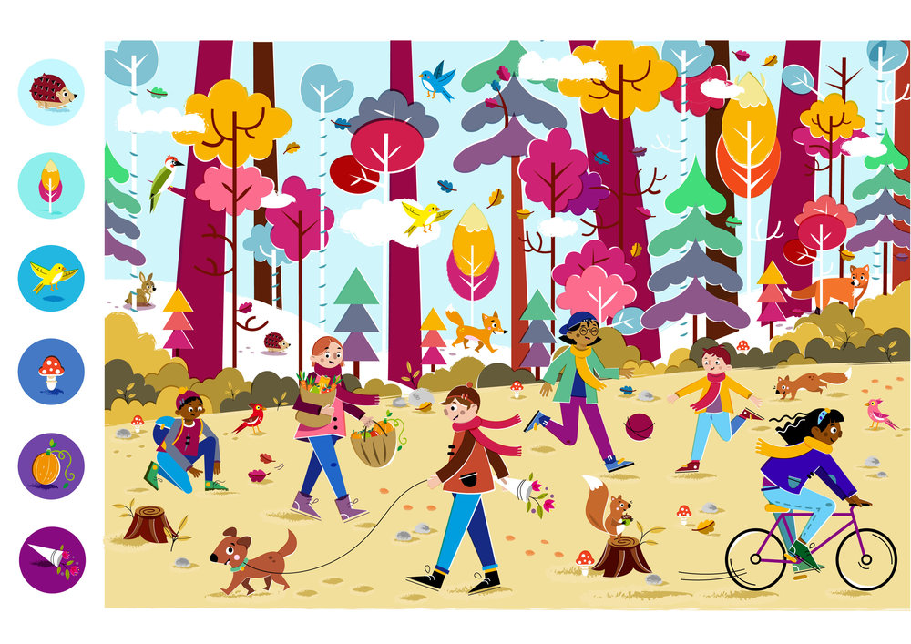 Hello Autumn! - Vector Illustration © Emeline Barrea, All rights reserved