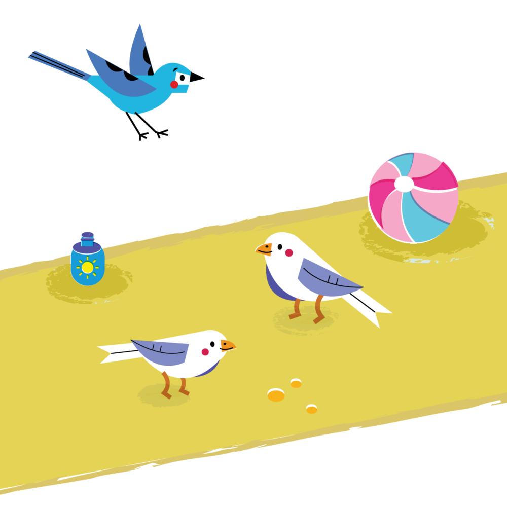 Seagulls - Vector Illustration © Emeline Barrea, All rights reserved