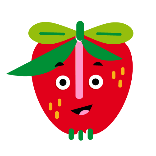 Strawberry - Vector Illustration © Emeline Barrea, All rights reserved