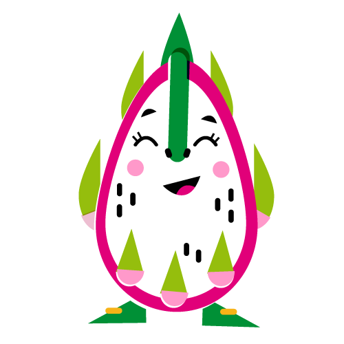 Dragon Fruit - Vector Illustration © Emeline Barrea, All rights reserved