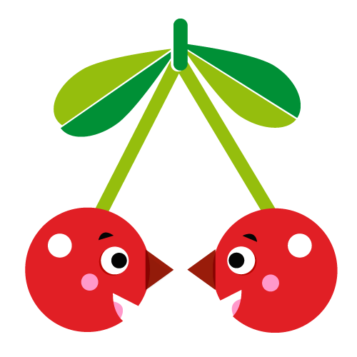Cherry - Vector Illustration © Emeline Barrea, All rights reserved