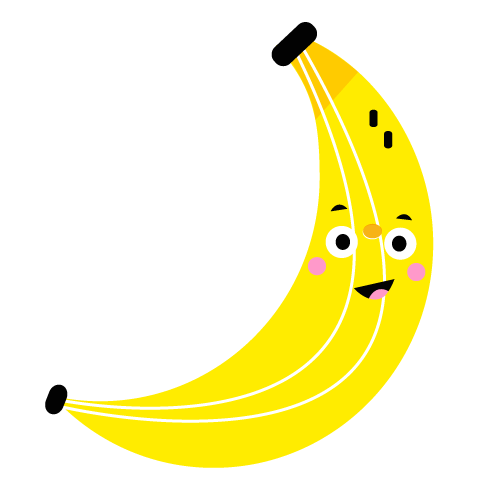 Banana - Vector Illustration © Emeline Barrea, All rights reserved