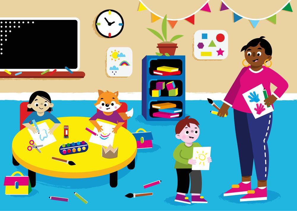 Kindergarten - Vector Illustration © Emeline Barrea, All rights reserved