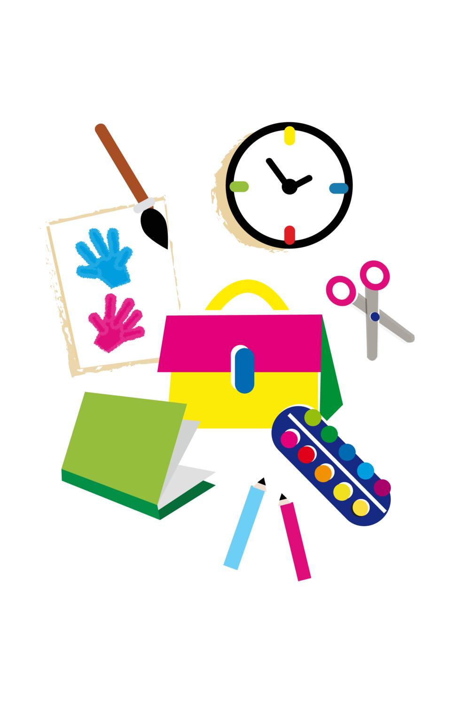 School supplies - Vector Illustration © Emeline Barrea, All rights reserved