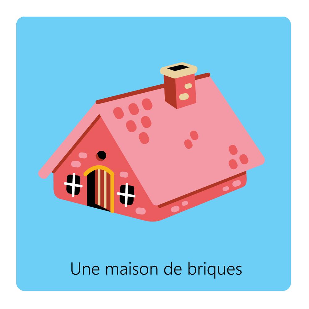 Les 3 petits cochons - Vector Illustration © Emeline Barrea, All rights reserved