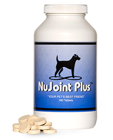 NuJoint Plus - Hip and Joint SupportNatural, Human Grade IngredientsVeterinarian recommendedPets are just as susceptible to poor joints and decreased mobility as their human companions, and senior pets aren't the only ones that can be affected. In fact, pets of all ages can be affected.Safe for all breeds and ages, NuJoint Plus® was designed to be a natural, nutrient-rich hip and joint support supplement. We use only the highest quality pharmaceutical, human-grade ingredients that are specifically compounded in an FDA-registered laboratory for maximum potency, bio-availability and effectiveness.NuJoint Plus® is a state-of-the-art formula with the goal of optimal health all through your dog's life. Made with nutrients known for maximum mobility, NuJoint Plus® helps support optimal joint and hip health.